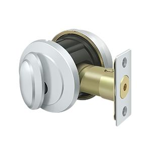Deltana - Solid Brass Port Royal Deadbolt Lock Grade 2 - Polished Chrome