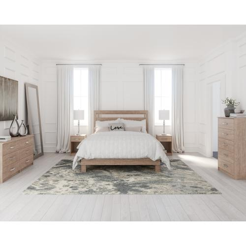 Full Platform Bed With Dresser, Chest and Nightstand