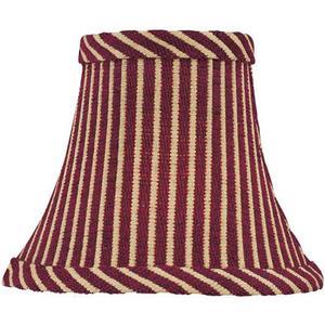 "Candelabra Shade/red Striped - 3""tx5""bx4""sh"