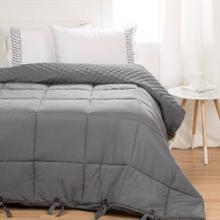 Printed Comforter with pillow shams - Gray