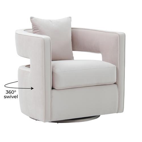 Tov Furniture - Kennedy Blush Swivel Chair