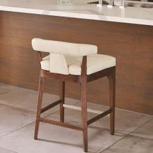 Moderno Counter Stool-Ivory Marble Leather