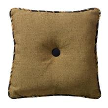 Ashbury Black & Tan Tufted Throw Pillow