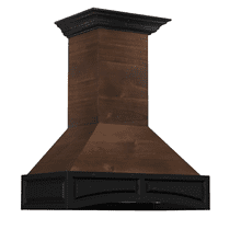 ZLINE 30 in. Wooden Wall Mount Range Hood in Antigua and Walnut - Includes Remote Motor
