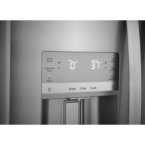 Frigidaire - Frigidaire Gallery 25.6 Cu. Ft. 36'' Standard Depth Side by Side Refrigerator