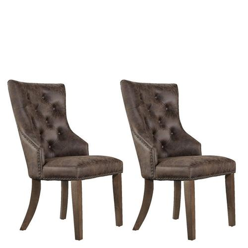 Standard Furniture - Hawkins 2-Pack Upholstered Side Chairs, Brown