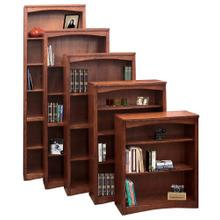 Bookcase w/ 1 fixed, 4 adj shelves