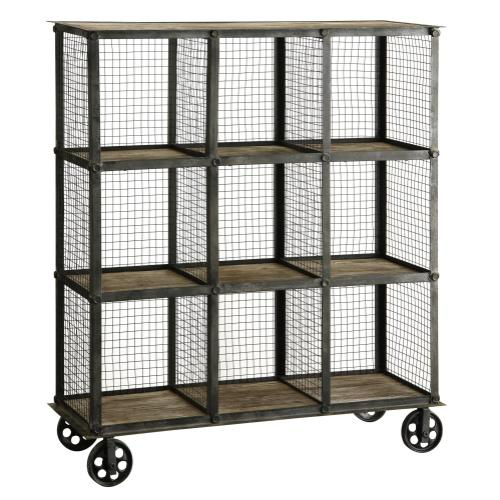 Crestview Collections - Industria Metal and Wood Bookcase