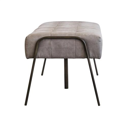 Venturi Fabric Tufted Bench, Devore Gray