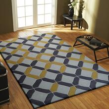 Durable Hand Tufted Transition TF60 Area Rug by Rug Factory Plus - 5' x 7' / Charcoal/Yellow