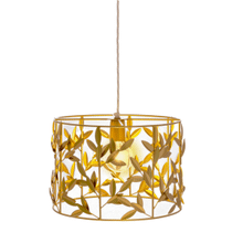 See Details - Gold Leaf Pendant. 60W Max Watt. Hardwire Only.
