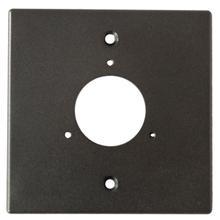 View Product - Bullet Camera Single Gang Box Adapter Plate (Black)
