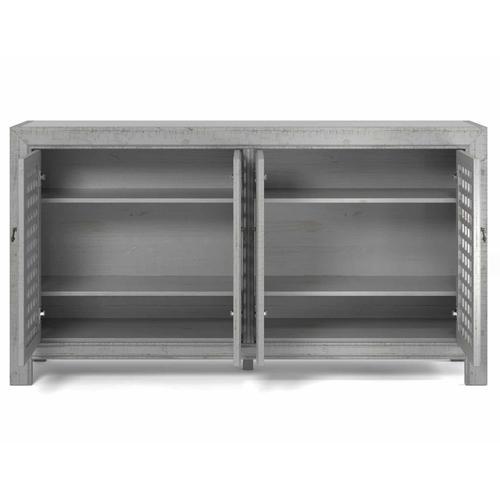 Steve Silver Co. - Rio 4-Door Accent Cabinet, Gray