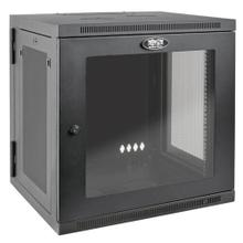 See Details - SmartRack 12U UPS-Depth Wall-Mount Small Rack Enclosure, Clear Acrylic Window, Hinged Back