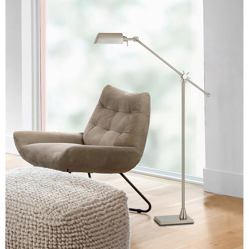 Cal Lighting & Accessories - 7W, 450 Lumen, 3000K LED Adjust Able Metal Floor Lamp With Metal Shade
