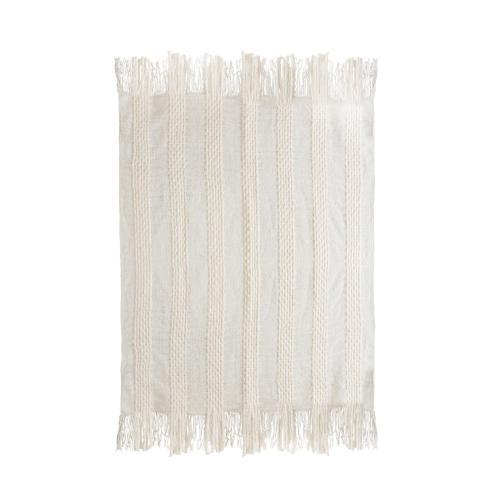 Tov Furniture - Lima Cotton White Throw