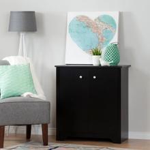 Vito - Small 2-Door Storage Cabinet, Pure Black