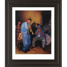 """Jazz Trumpet Framed Print Wall Art"