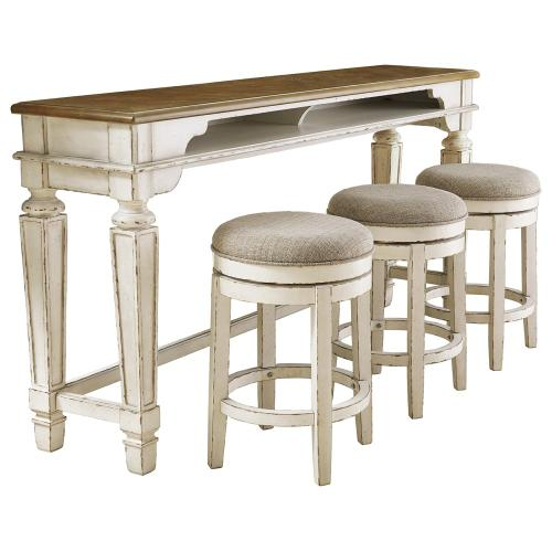 Counter Height Dining Table and 3 Barstools