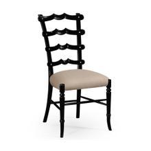 "Black ""Yoke"" ladderback side chair"