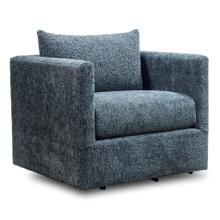 See Details - WILMER SWIVEL CHAIR  Aries Charcoal Plush Fabric on Swivel Base