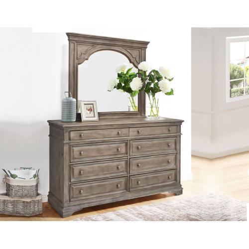 Highland Park Dresser/Mirror, Waxed Driftwood