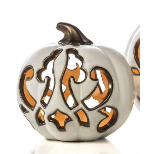 Medium White Swanky Pumpkin
