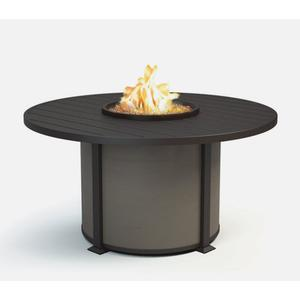 "54"" Round Dining Fire Table Ht: 27.5"" Valero Aluminum Base (Indicate Top/Frame & Side Panel Color)"