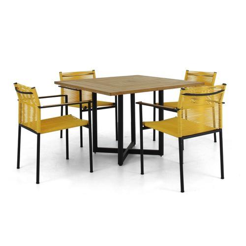 JAKARTA Stackable Dining Arm Chair w/ cushion - Lemon