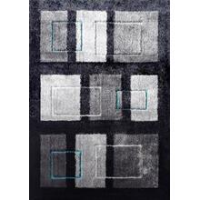 Vibrant Hand Tufted Modern Shag Lola 15 Area Rug by Rug Factory Plus - 5' x 7' / Black Gray
