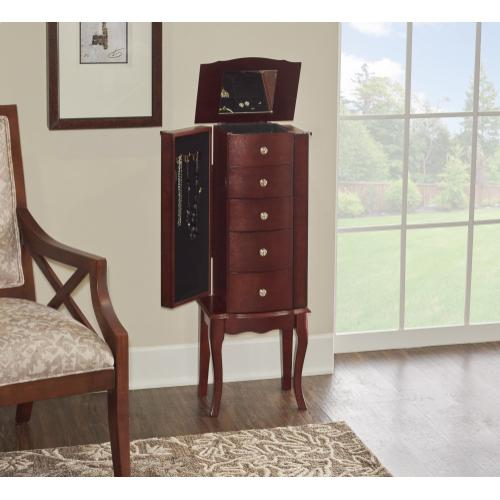 5-drawer Jewelry Armoire, Mahogany