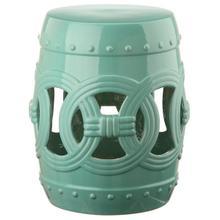 See Details - Light Blue Double Coin Ceramic Garden Stool - Light Blue