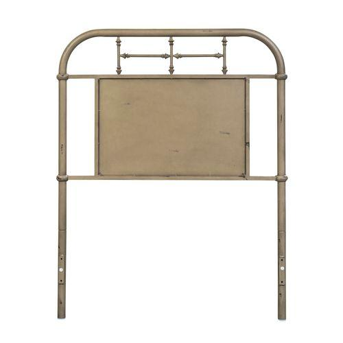 Twin Metal Headboard - Vintage Cream