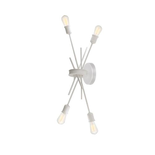 4lt Incandescent Wall Sconce Matte White