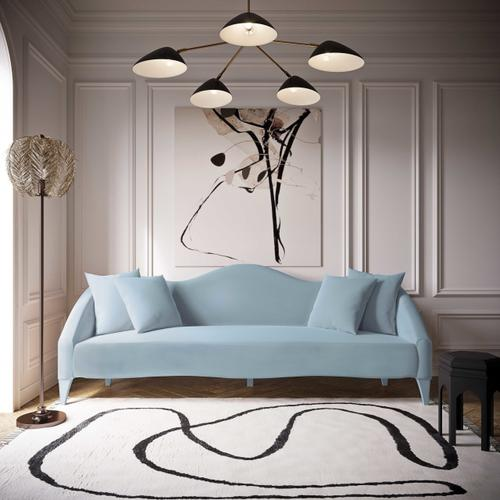 Tov Furniture - Naya Sea Blue Velvet Sofa