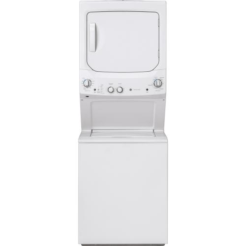 "GE 27"" Unitized Spacemaker Washer and Gas Dryer White - GUD27GSSMWW"