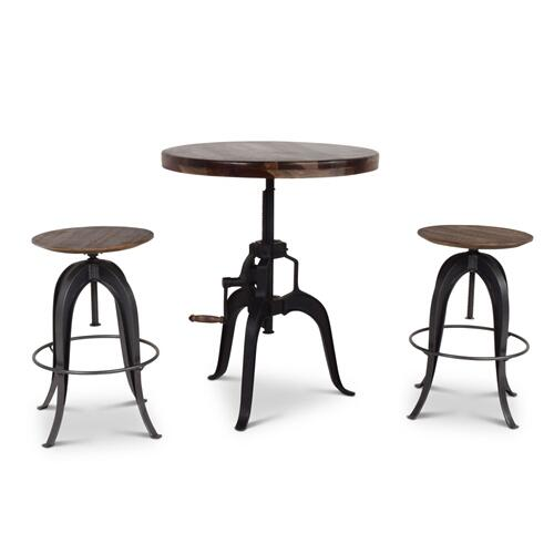 Sparrow 30-inch Round Crank Table