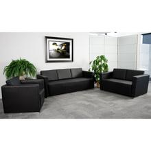 See Details - HERCULES Trinity Series Reception Set in Black LeatherSoft