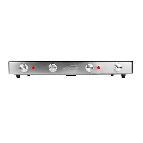 Brentwood - Brentwood Select TS-382 1800w Double Infrared Electric Countertop Burner with Timer, Stainless Steel