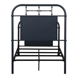 Twin Metal Bed - Navy