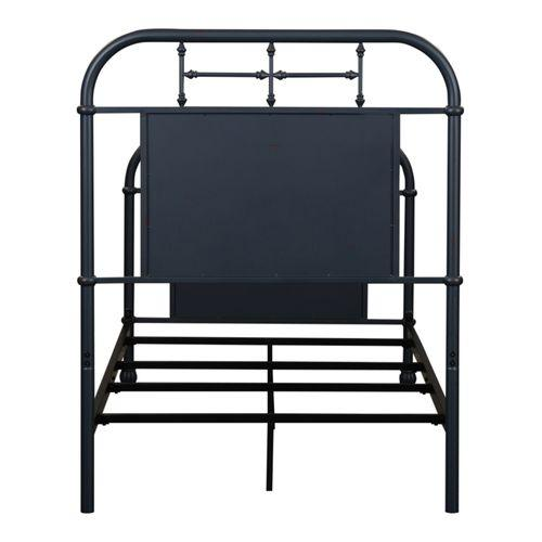 Twin Metal Bed - Navy