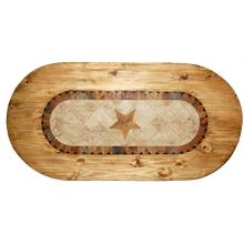 Oval Marble Table W/ Star