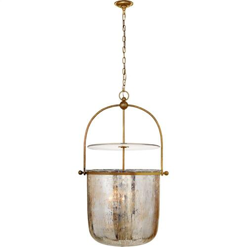 Visual Comfort CHC2271GI-MG E. F. Chapman Lorford 4 Light 25 inch Gilded Iron Bell Lantern Ceiling Light, Large