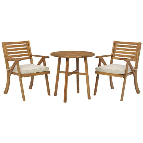 Vallerie Outdoor Chairs With Table Set (set of 3)
