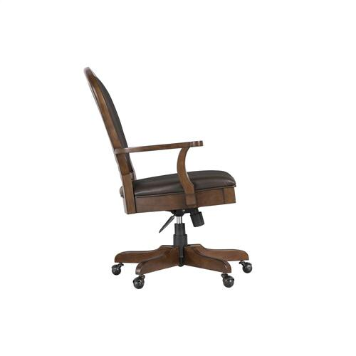 Clinton Hill - Leather Desk Chair - Classic Cherry Finish