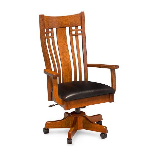 Bradley Arm Desk Chair, Fabric Seat