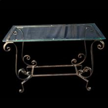 Farrah Glass Top Console Table