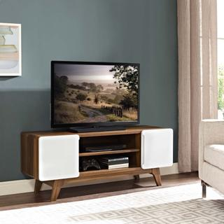 """See Details - Tread 47"""" TV Stand in Walnut White"""