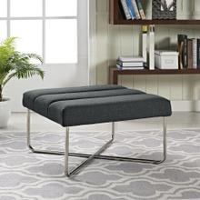 See Details - Reach Upholstered Fabric Ottoman in Gray
