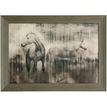 See Details - GREY SERENADE  42in w. X 30in ht.  Promotional Textured Framed Print  Made in USA